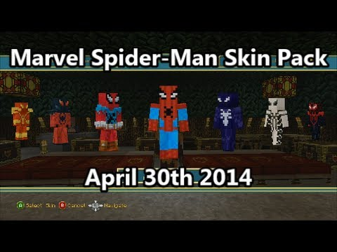 Minecraft - The Marvel Spider-Man Skin Pack is Out! (April 30th 2014)