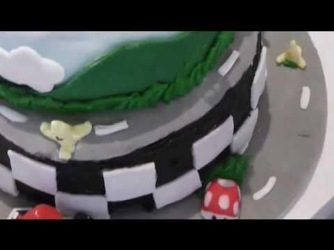 Mario Kart Themed Birthday Cake (tutorial)