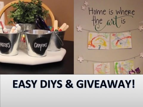 DIY Chalkboard Table | GIVEAWAY & COLLAB!