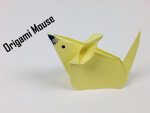 DIY Origami Animals for Kids - Origami Mouse 🐭 | How to Make Easy Origami Paper Mouse (Very Simple)