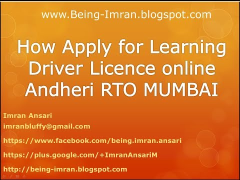 How to apply for a Learning Driver Licence online Procedure Mumbai- Andheri -Tardeo - RTO
