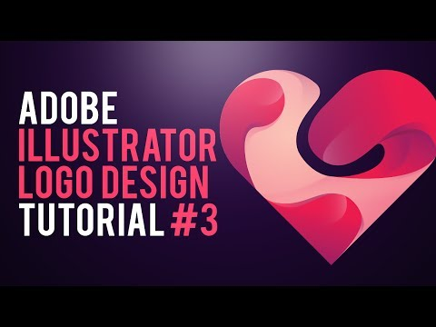 PROFESSIONAL LOGO DESIGN TUTORIAL | HEART LOGO | ADOBE ILLUSTRATOR #3 2017