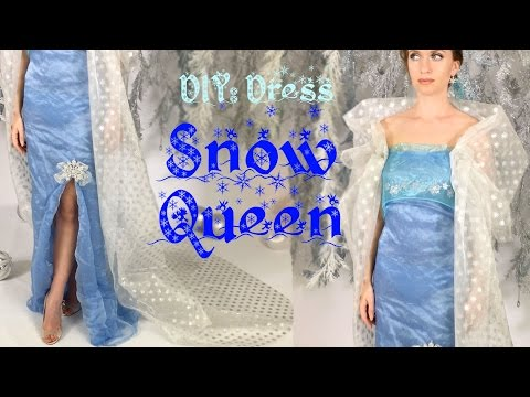 DIY: The Snow Queen Costume - NO SEWING! + Makeup & Hairstyle! ➻4A