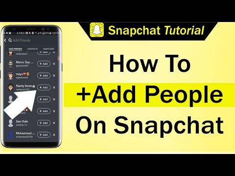 How To Add People On Snapchat