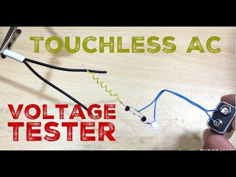 how to make Alternating current detector at home||touchless ac tester||wireless ac tester