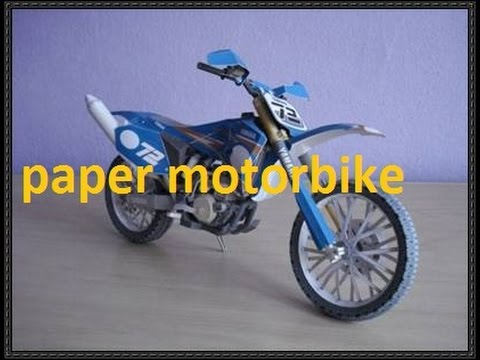 How to make a mini electric motorbike from paper