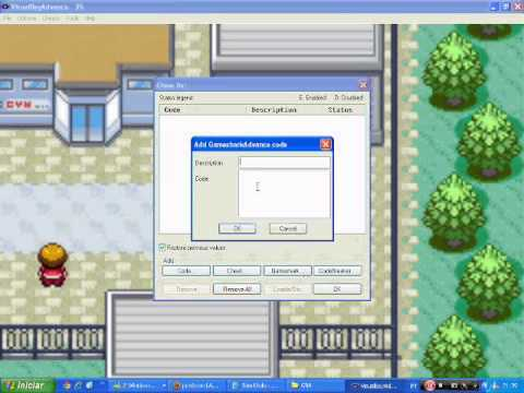 Como Colocar Cheats no Pokemon Ruby (GBA) [GameShark]