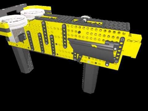 High power automatic LEGO Nerf Gun: Raptor CS-35