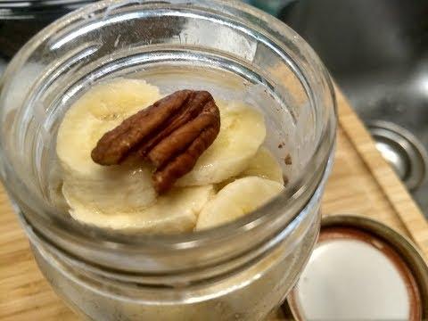 OVERNIGHT OATMEAL MACA BANANA NUT - Superfood Recipe - Clean Eating Series