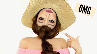 UPSIDE DOWN 'REVERSE HEAD' Makeup Tutorial !!!