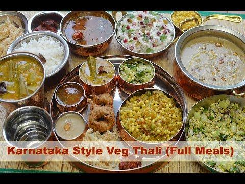 South Indian Thali recipe   Veg South Indian Lunch Menu Ideas   Karnataka Style Thali - Bon Appétit