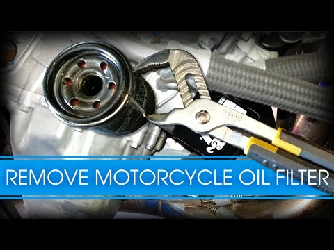 How To Remove Stubborn Sport Bike Motorcycle Oil Filter - GSXR 1000