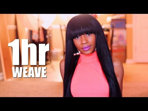 1-Hour Removable Quick Weave Wig with Bangs► Amazon ZXZ Hair