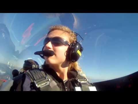 UK's youngest female pilot Rebecca Stewart