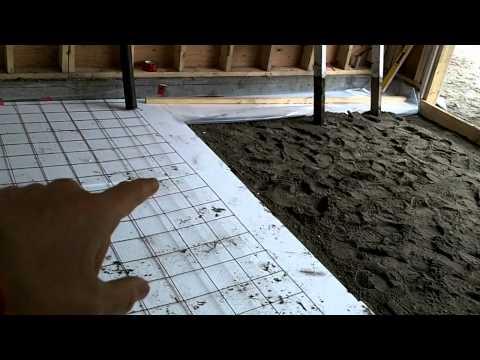 Garage Build Part 13 - Preparing the floor to pour concrete