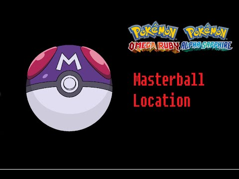 How To Find A Master Ball Pokemon Omega Ruby Alpha Sapphire Location