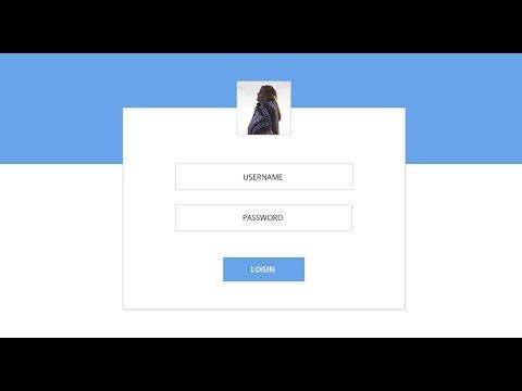 Login form design for Java swing application