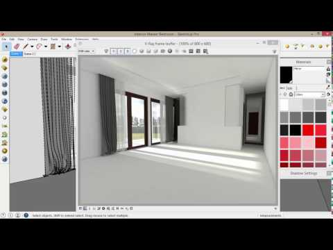Tutorial Sketchup - Clear Glass, Frosted Glass & Mirror