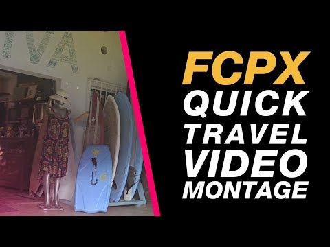 Final Cut Pro X: Travel Video Montage to a Beat Changing Multiple Durations in one Go - Beginnerl