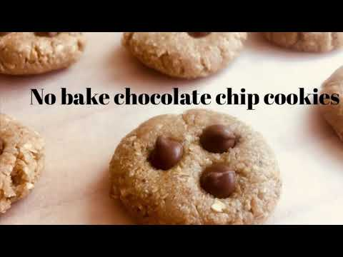 No bake chocolate chip cookies (vegetarian)
