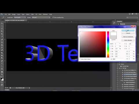 Photoshop CS6: Creating 3D Text