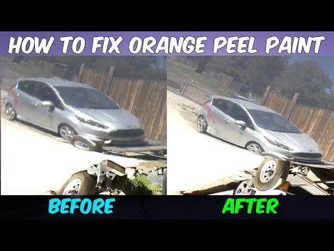 HOW TO FIX ORANGE PEEL PAINT