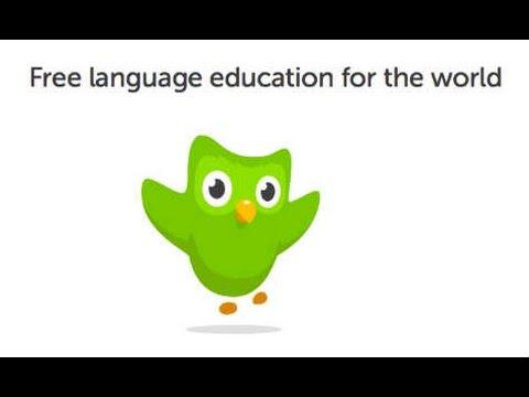 Using Duolingo.