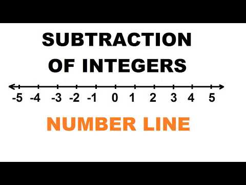Subtraction of Integers Using Number Line