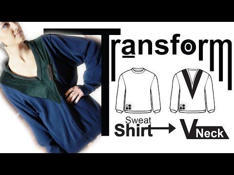 Easy DIY Transformation: Sweater - High Fashion V-Neck