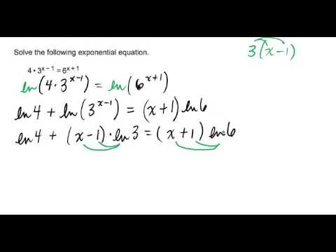Solving an Exponential Equation with x's on Both Sides and Different Bases