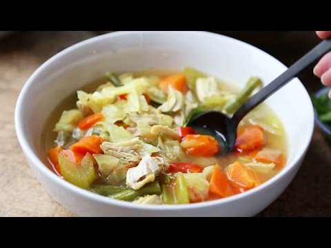 How to make a Chicken Soup in a Rice Cooker