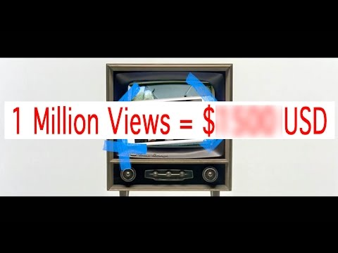 How much money can I make with 1 million youtube views