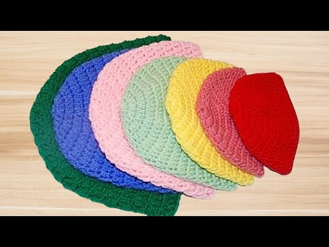 How to Crochet a Double Crochet Beanie Hat (All Sizes) - Crochet Jewel
