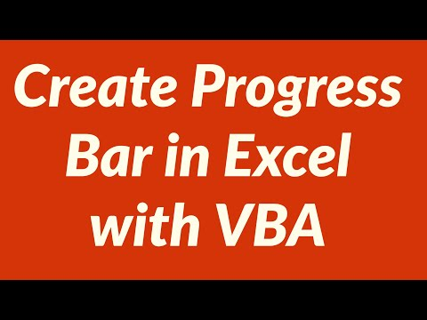 How to Create  Progress Bar in Excel with VBA