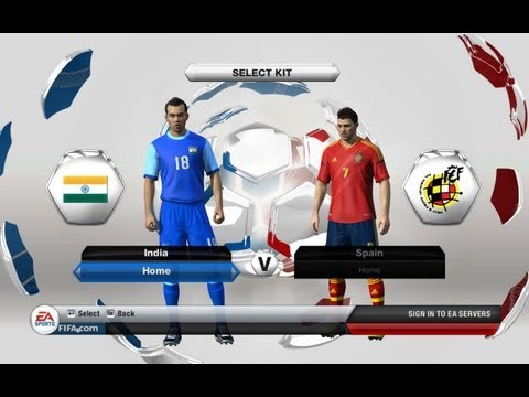 The Hindi Gamer Plays FIFA 13 India vs Spain| Hindi Commentary and Gameplay