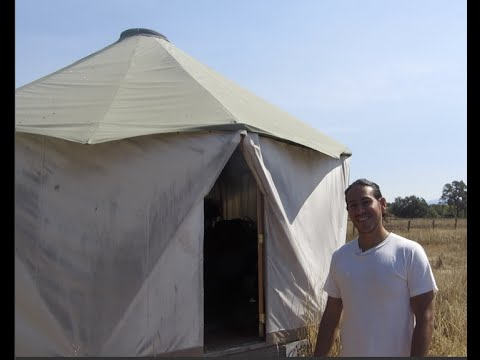 500 Dollar Yurt Bedroom on a Mini Homestead