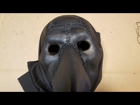 How To Make A Plague Doctor Mask -  DIY