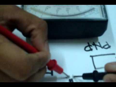 Identifying PNP or NPN Transistor using Analog Multi-Tester