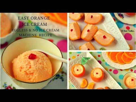 Easy Orange Ice cream | Orange stuffed with icecream |no cooking no icecream machine recipe