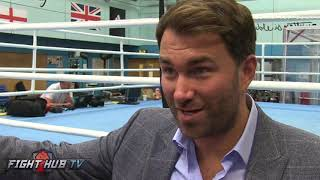 "EDDIE HEARN ""TAKAM HAS BEEN TRAINING FOR JOSHUA FOR 9 WEEKS! AJ ONLY 9 DAYS!"""