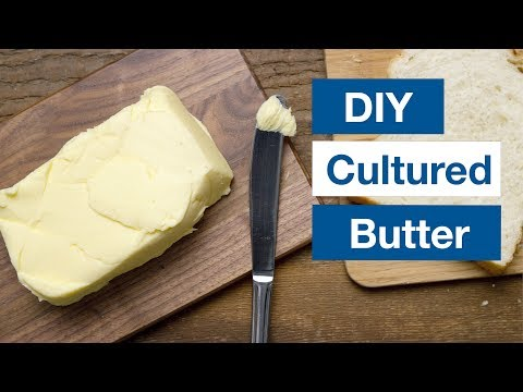 How To Make Cultured Butter And Buttermilk Recipe  || Le Gourmet TV Recipes