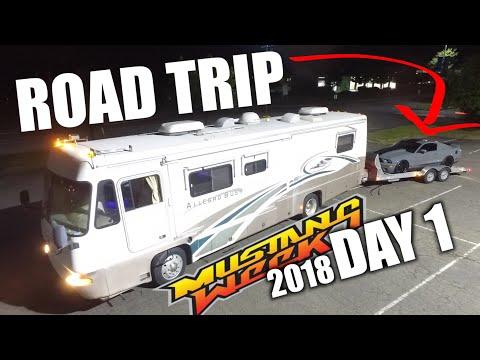 VLOG - DAY 1 Mustang Week 2018 ROAD TRIP RVing
