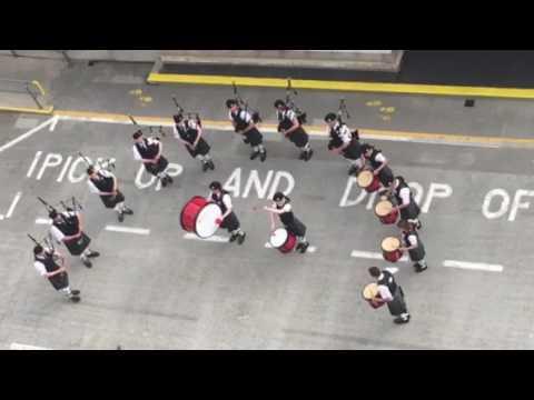 Scottish bagpipe band - Kirkwall, Orkney Islands: Viking Sea cruise