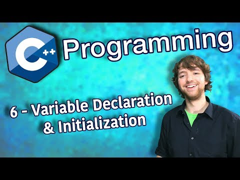 C++ Programming Tutorial 6 - Variable Declaration and Initialization