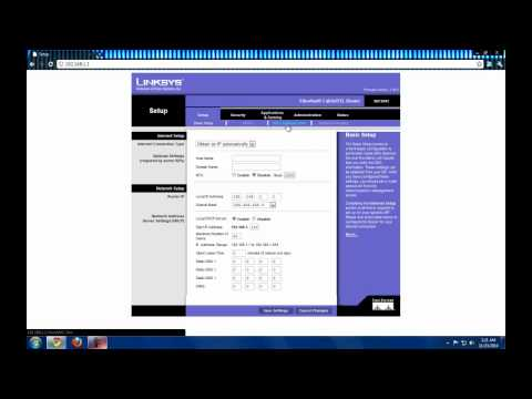 How to change your IP Address on Linksys router