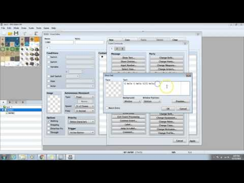 RPG Maker MV Tutorial -how to change text color and size-