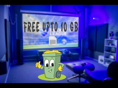 Free upto 10 GB Space in your computer and laptop(4 steps)..