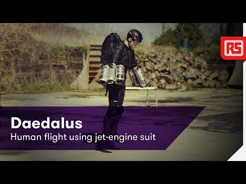 Daedalus | Human flight using jet-engine suit | RS Components