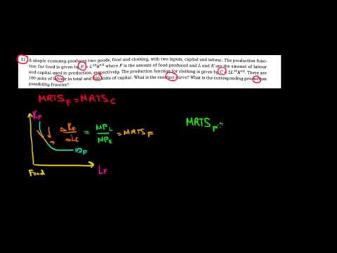 MICROECONOMICS I How To Find The Contract Curve In An Economy I 1