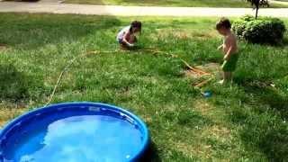 Broken Sprinkler Surprise on Mother's Day 2015